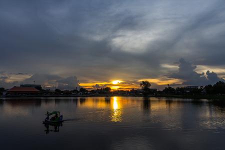 Sunset Sky at the park, Twilight photo