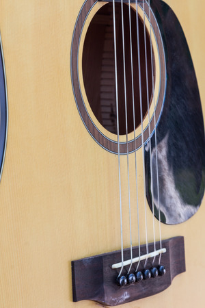 spanish guitar: detail of guitar with shallow musical background