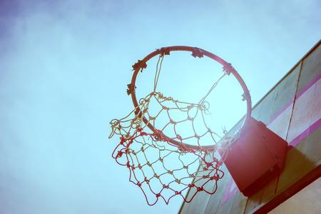 B&W Vintage Wooden basketball hoop
