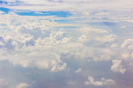 cloud drift: Cloudscape blue sky and white cloud background Stock Photo