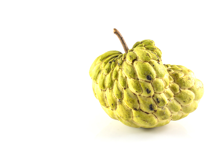 chirimoya: Sugar Apple ( custard apple, Annona, sweetsop,Cherimoya fruit )  on white background