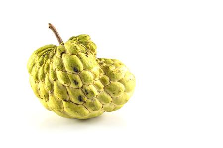 annona: Sugar Apple ( custard apple, Annona, sweetsop,Cherimoya fruit )  on white background