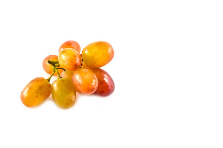 seedless: seedless grapes on a white background