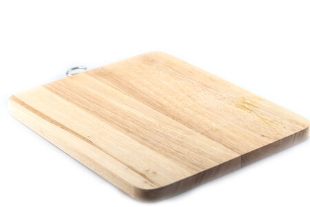 l plate: block wood in kitchen isolated on white background Stock Photo