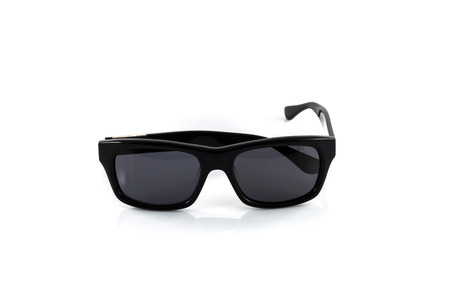 black rimmed: Black sunglasses isolated on a white background