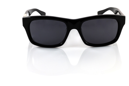 ray ban: Black sunglasses isolated on a white background