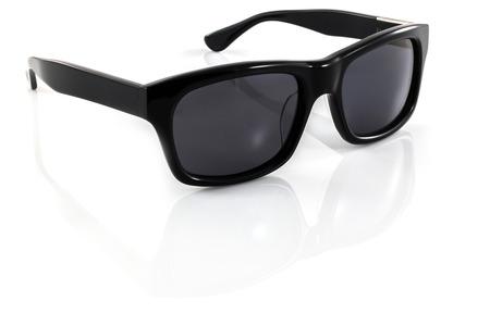 白い背景上に分離されて黒のサングラス 写真素材