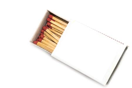 pyromaniac: matchbox on white background