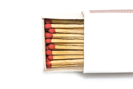 matchbox on white background