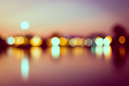 vintage  abstract city background of bokeh of light photo