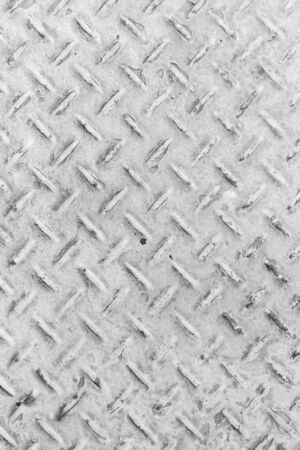 diamond plate: White of old metal diamond plate in silver color