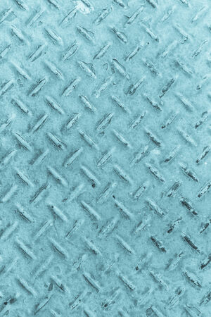 diamond plate: Blue of old metal diamond plate in silver color