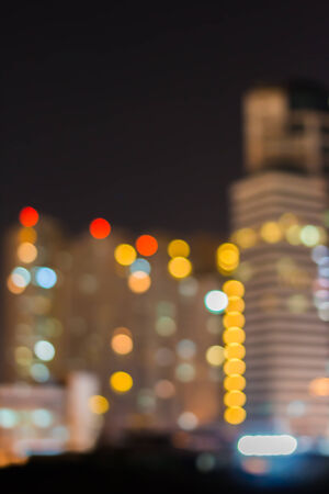 Blurred abstract City of lights photo