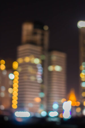Blurred abstract background City of lights photo