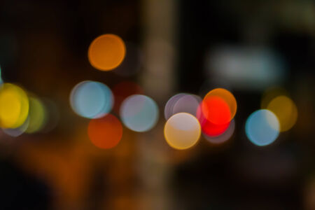 Out of focus of city lights  photo