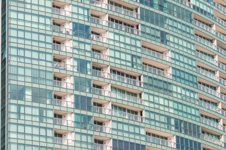 riverfront: Contemporary condominiums pattern background