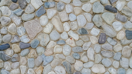 wall pattern of gravel stone background