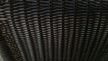 synthetic: Black synthetic rattan texture weaving background