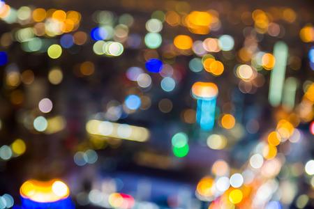 lighhts: blured lighhts of bokeh city Bangkok Thaland