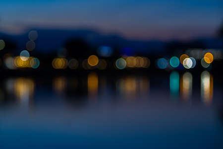 blue lights: Blue lights bokeh  background