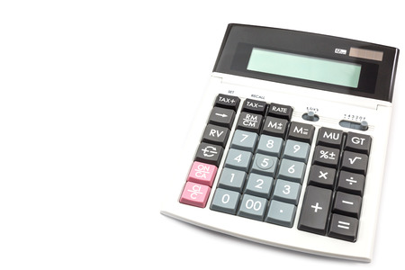 Calculator isolate on a white background photo