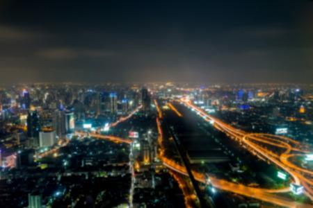bangkok city: Bangkok city at night, Thailand at nighttime Stock Photo