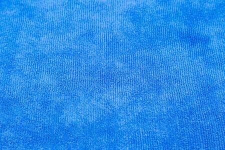 blue micro fiber fabric texture background photo