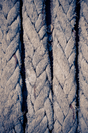 fastening objects: Old ship rope background