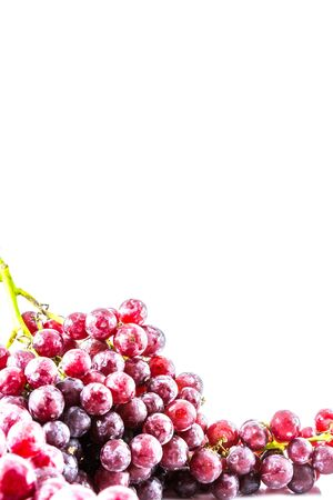 red grape on white background photo