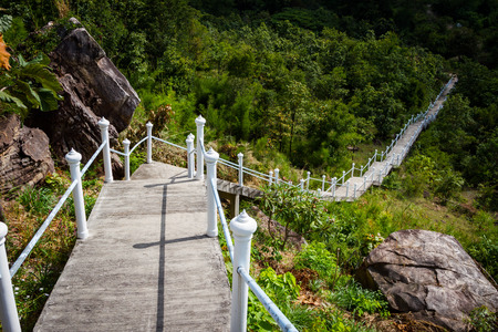 Rock stairway going up ,Mountain photo