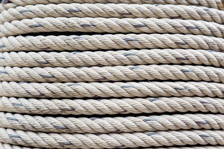 Old Dirty Nylon white Rough rope background photo