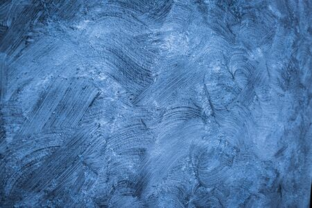Blue and Gray Brushed white concrete wall texture background