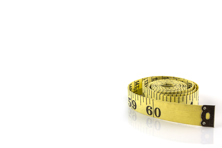 Measuring tape for control your waist isolated on white background