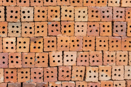 red wallpaper: Red brick block for wallpaper and background