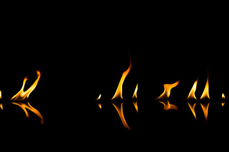 fire isolated on black use for background Stock Photo