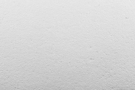 White foam plastic sheet texture background