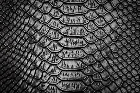 brown skin: Black snake skin pattern texture background Stock Photo