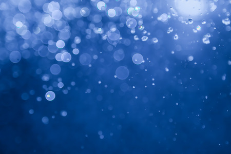blue bokeh water with light background