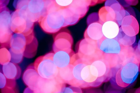 chrismas background: Red, pink, white, yellow and turquoise Chrismas lights bokeh background Stock Photo