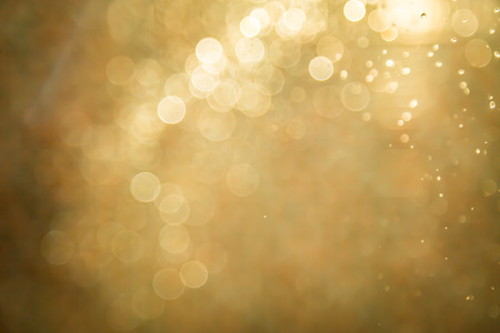 holiday lights: Abstract golden bokeh background