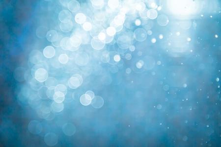 Abstract blue bokeh background Reklamní fotografie