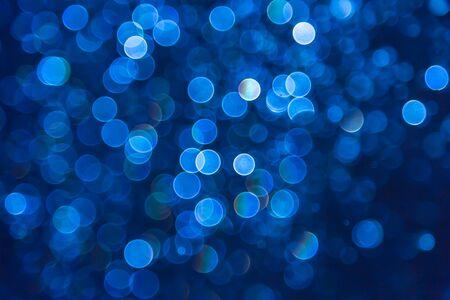 bokeh lights: Blue glitter bokeh lights bokeh defocused background