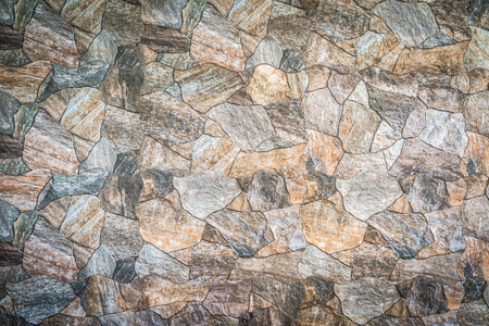 stacked stone: Background and texture of stacked stone wall background Stock Photo