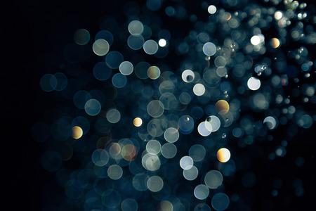 bokeh of lights on black background Stockfoto