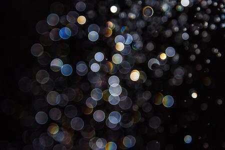 bokeh of lights on black background 스톡 콘텐츠