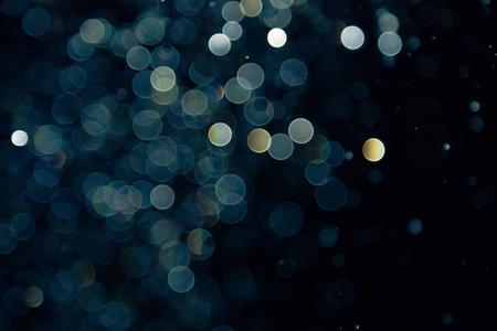 bokeh of lights on black background Archivio Fotografico