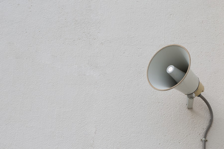 loudspeaker setting on the wall for present News in public place