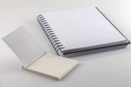 emty: White spiral emty notebook on white background