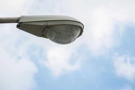 Close up of Street lighting with blue sky background Stock Photo
