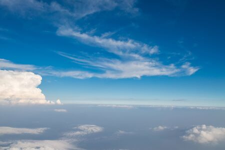 hight: Blue sky clouds from hight use for background Stock Photo
